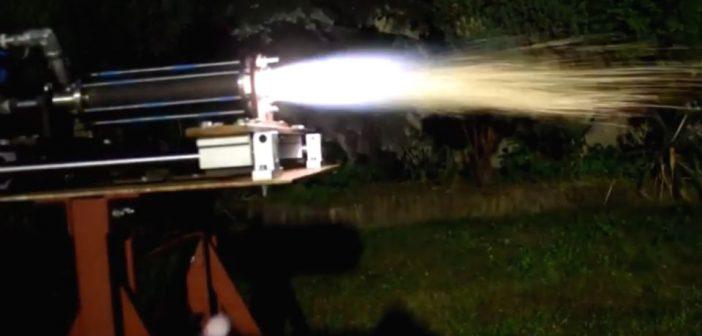 Test studenckiego silnika rakietowego