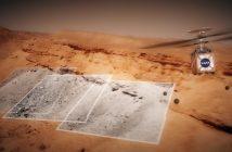 Wizja marsjańskiego helikoptera misji Mars 2020 podczas lotu / Credits - NASA, JPL