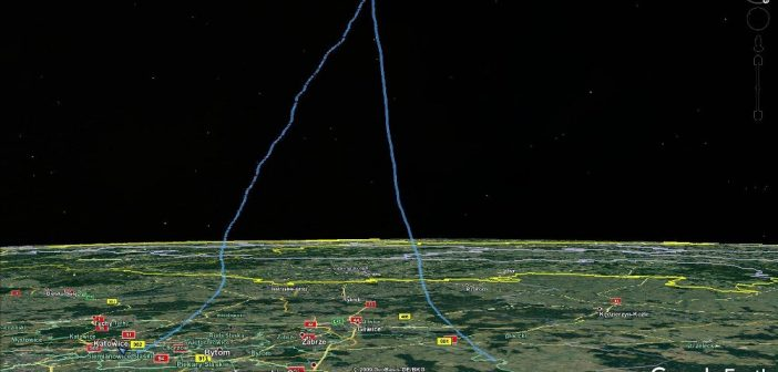 Profil lotu misji SEBA-13 / Credits - Tomasz Brol, Google Earth