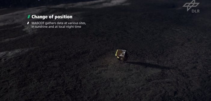 Lądownik MASCOT na powierzchni Ryugu / Credits - DLR