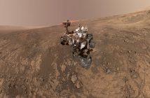 Łazik MSL w rejonie Vera Rubin Ridge - mozaika zdjęć z lutego 2018 / Credits - NASA/JPL-Caltech/MSSS