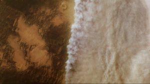 Burza na Marsie uchwycona w kwietniu przez sondę Mars Express / ESA