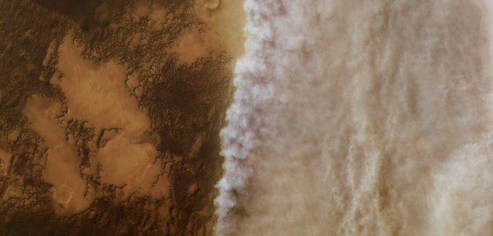 Trwa wielka burza pyłowa na Marsie