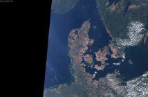 Wyjątkowo sucha Dania - zdjęcie z 27 lipca 2018 z satelity Sentinel 3 / Credits - Sinergise, ESA