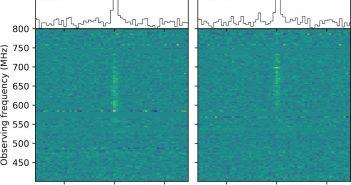 Spektrum rozbłysku FRB 180725A / Credits - CHIME/FRB Collaboration