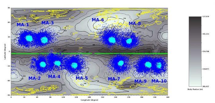 Wstępna selekcja potencjalnych lądowisk dla MASCOT / Credits - CNES