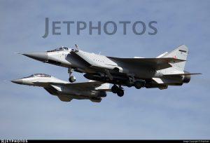 Zdjęcie MiG-31 i pocisku ASAT / Credits - Jet Photos, Ship Sash
