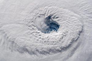 Oko huraganu Florence z pokładu ISS (12 września 2018) / Credits - ESA, Alexander Gerst