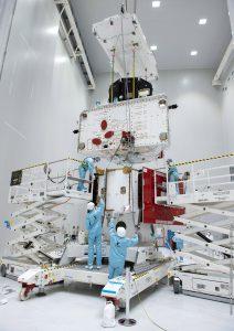 Sprawdzenie połączeń obu sond BepiColombo / credits: ESA/CNES/Arianespace/Optique video du CSG – J. Odang