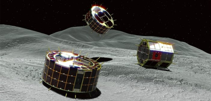 Lądowanie łazików MINERVA-II na planetoidzie Ryugu
