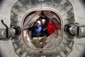 Załoga Sojuza MS-08 na pokładzie ISS / Credits - NASA