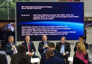 Wspólne wystąpienie na temat modułu serwisowego MPCV Orion / Credits - Blue Dot Solutions