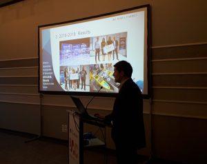 Krzysztof Kanawka prezentuje wyniki akceleratora Space3ac / Credits - Blue Dot Solutions