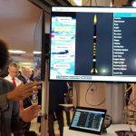 Mgr inż. Hamed Gamal prezentuje rakietę Perun (SIR) firmy SpaceForest na IAC 2018 / Credits - SpaceForest