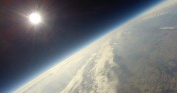 Widok ze stratosfery wykonany podczas jednego z lotów World Space Week Wrocław 2018 / Credits - Włodzimierz Tarnowski SQ6NLN