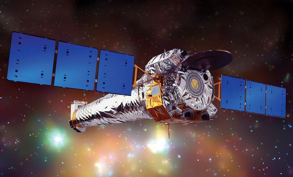 Grafika prezentująca kosmiczny teleskop Chandra / Credits - NASA