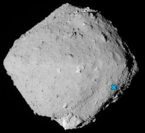 Miejsce lądowania instrumentu MASCOT na powierzchni Ryugu / Credits - JAXA