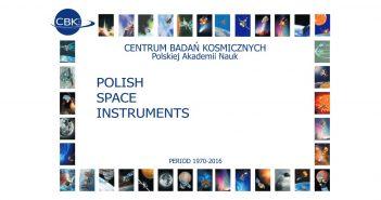 Okładka katalogu polskich instrumentów naukowych dla misji kosmicznych / Credits - CBK