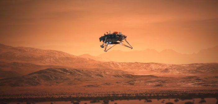 Animacja prezentująca końcowy etap lądowania InSight / Credits - Lockheed Martin, NASA