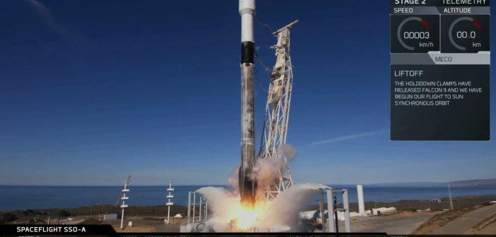 Falcon 9 startuje z 64 satelitami - grudzień 2018/ SpaceX