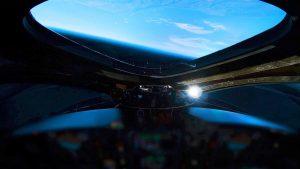 Widok z kokpitu VSS Unity w pobliżu pułapu lotu z 13 grudnia 2018 / Credits - Virgin Galactic