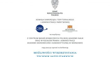 Konferencja Możliwości wykorzystania technik satelitarnych przez administrację publiczną w Polsce / Credits - Senat RP