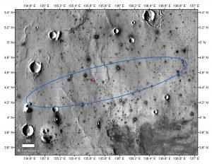 Region lądowania misji InSight (obraz z danych z sondy Mars Odyssey) / Credits - NASA/JPL-Caltech/ASU