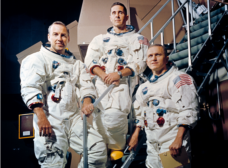 Załoga Apollo 8, od lewej, James Lovell, Williams Anders i Frank Borman / NASA