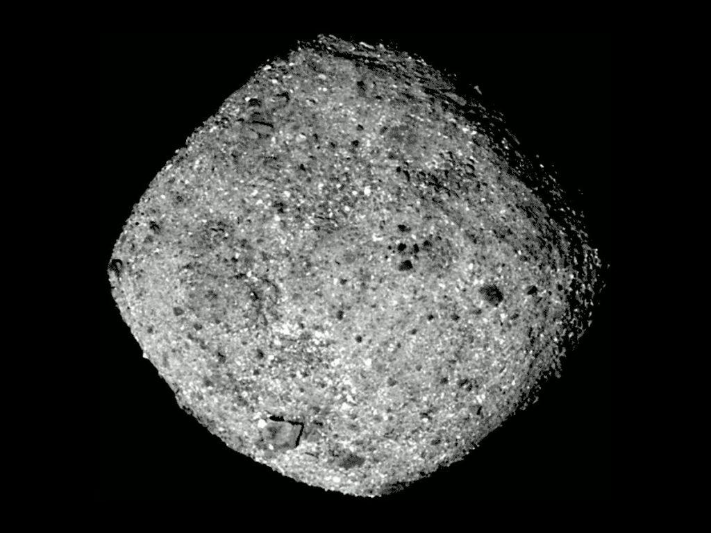 Spojrzenie na planetoidę Bennu z odległości około 80 km / Credits - NASA's Goddard Space Flight Center/University of Arizona
