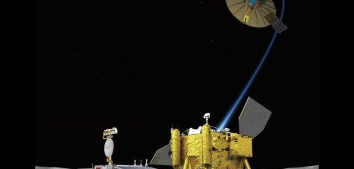 Wizualizacja Chang'e 4 na Ksieżycu / Credits - CSA