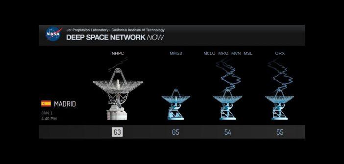 Stacja DSN w Madrycie odbiera sygnał z sondy New Horizons / Credits - NASA TV