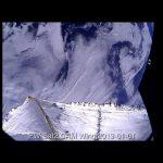 Obraz z pokładu PW-Sata 2 prezentujący żagiel deorbitacyjny z uszkodzeniami / Credits - SKA