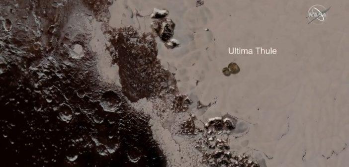 Porównanie wielkości 2014 MU69 i Plutona / Credits - NASA TV