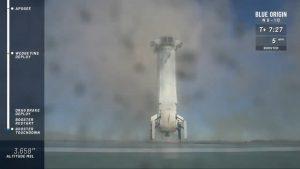 Rakieta New Shepard po lądowaniu - 23.01.2019 / Credits - Blue Origin