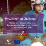 Plakat konkursu MyGalileoApp/ Credits - GSA
