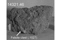 Skała, w której wykryto ziemski okruch skalny / Credits - Belluci et al 2019