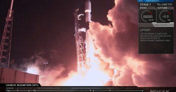 Start Falcona 9 z PSN-6, S5 i lądownikiem Beresheet / Credits - SpaceX