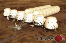 Jedna z grafik prezentująca wizję bazy Mars One / Credits - Mars One