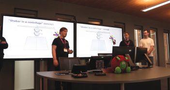 Zespół GDArms prezentuje swój projekt / Credits - GDArms
