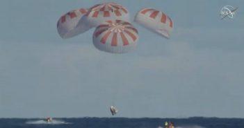 Koniec misji SpX-DM1 - 08.03.2019 / Credits - NASA TV