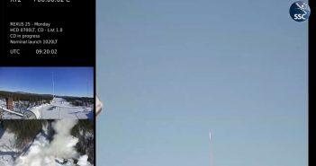 Start REXUS 25 z HEDGEHOG na pokładzie / Credits - Swedish Space Corporation