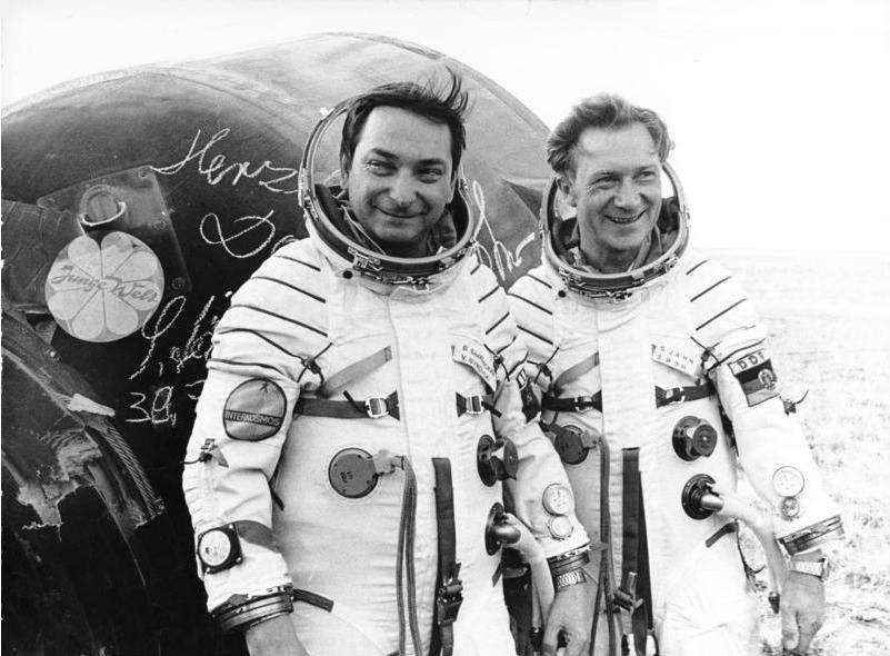 Walerij Bykowski i Sigmund Jähn - 3 września 1978 / Credits - German Federal Archive