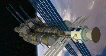 Wizualizacja załogowego statku międzyplanetarnego / Credits - Wojciech Kasprzak