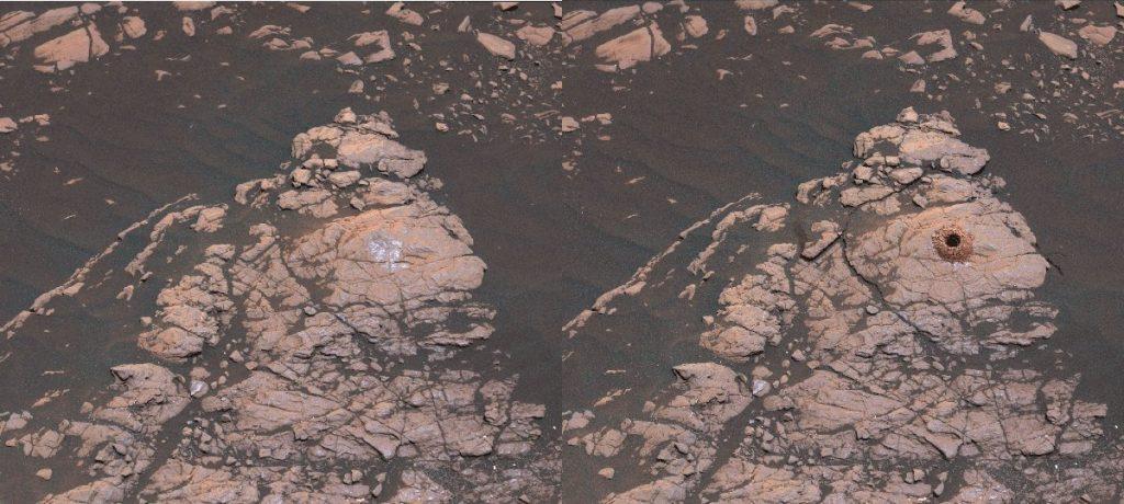 Odkształcenia powstałe w wyniku wiercenia w Aberlady / Credits - NASA/JPL-Caltech/MSSS