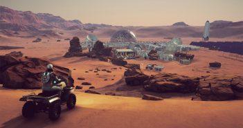"""Spojrzenie na bazę marsjańską w grze """"Occupy Mars"""" / Credits - Pyramid Games"""