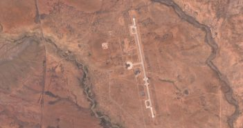 Zdjęcie satelitarne Spaceport America z 9 maja 2019 / Credits - Unia Europejska, na bazie danych z satelity Sentinel 2, EO Browser, Sentinel Hub