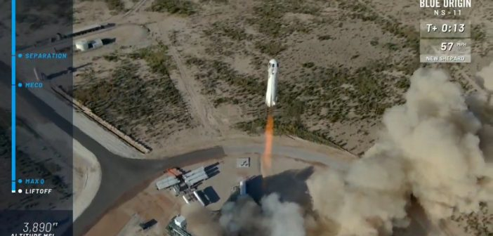 Jedenasty lot rakiety New Shepard - 02.05.2019 / Credits - Blue Origin