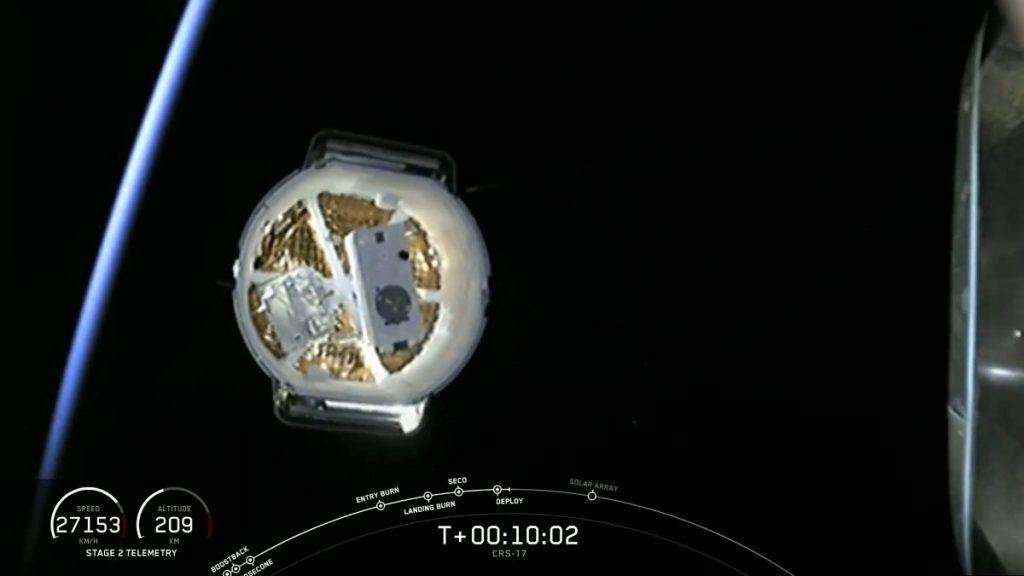 Uwolnienie kapsuły Dragon - misja CRS-17 / Credits - SpaceX