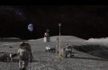Grafika prezentująca prace astronautów na Księżycu / Credits - NASA