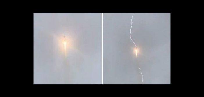 Uderzenie piorunu w rakietę Sojuz 2.1b - 27.05.2019 / Credits - Roskosmos